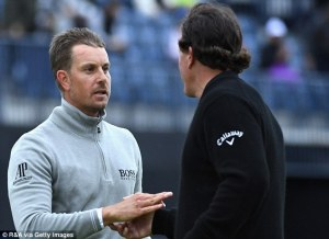 Stenson and Mickelson - dailymail.co.uk